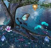 Serie natura incantata - albero incantato in mezzo alla foresta — Foto Stock