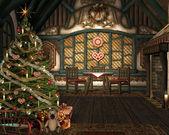 Lovely christmas illustration — Stock Photo