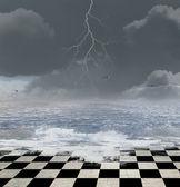 Donkere surrealistisch achtergrond — Stockfoto