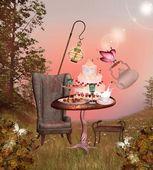 Wonderland series - birthday banquet — Stock Photo