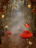 Chemin dans la forêt — Photo