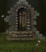 The secret doorway — Stock Photo