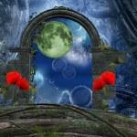 Series the secret passage - a romantic moon — Stock Photo #14544289