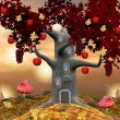 Tree symbol of autumn — Stock Photo