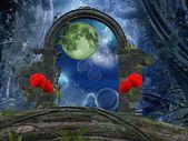 Series the secret passage - a romantic moon — Stock Photo