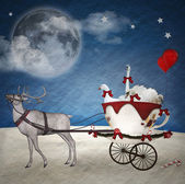 Christmas farm - photo manipulation and digital paint — Stock Photo