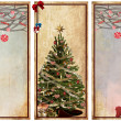 Set of vintage labels with christmas trees — Stock Photo #16918595