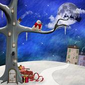 Fantasie kerstmis landschap — Stockfoto