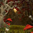 Enchanted nature series - red forest — Stock Photo #22806064
