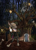 Wonderland series - It's late — Stock Photo