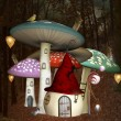 Stock Photo: Elves strange house