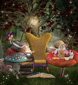 Midsummer night's dream series - A place for reading — Stock Photo