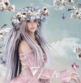 Blossom girl — Stock Photo