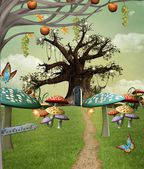 Wonderland footpath — Stock Photo