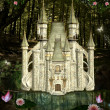 Enchanted castle in middle of forest — Foto de stock #28966157