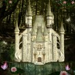 Стоковое фото: Enchanted castle in middle of forest