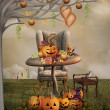 Halloween pumpkins banquet — Stock Photo #30480137