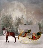 čekání na santa — Stock fotografie
