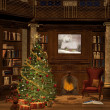 Elegant christmas room — Stockfoto