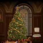 Elegant christmas room — Stock Photo #32947025