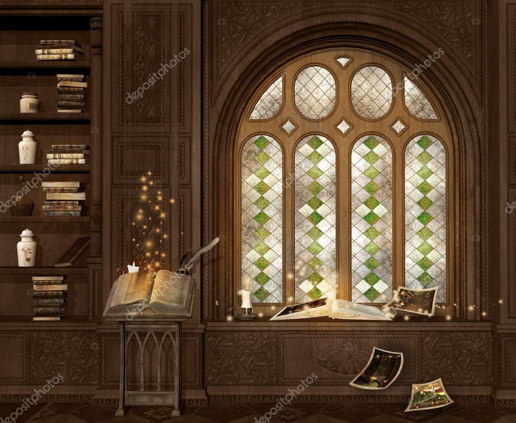 Oude magische kamer stockfoto ellerslie 32952157 - Foto van ouderlijke kamer ...