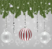Silver Christmas background — Stock Vector