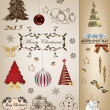 Christmas scrapbook collection — Vector de stock  #35265095