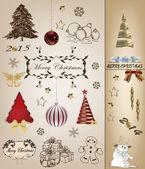 рождественская коллекция записки — Cтоковый вектор