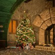 Christmas in fantasy house — Stock Photo