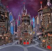 Ciudad del futuro — Foto de Stock