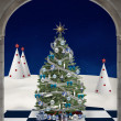 Blue christmas tree — Stock Photo