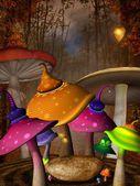 Wonderland autumnal place — Stock Photo