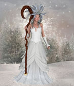 Ice snow queen — Stock Photo
