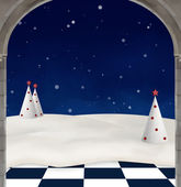 Wonderland series - Winter background — Stock Photo