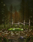 Enchanted little pond — Stock Photo
