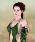 Beautiful fantasy woman — Stock Photo