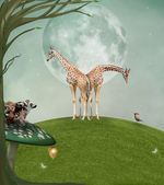 Enchanted animals — Stock Photo