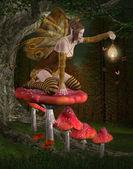 Fairy into the wood — Stock Photo
