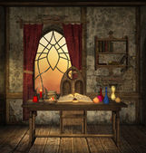 Mysterious magic room — Stock Photo