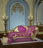 Baroque room background — Photo