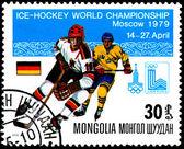 Campionato del mondo di hockey su ghiaccio a mosca, germania — Foto Stock