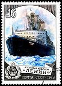 "Russian Icebreaker ""Lenin"" — Stock Photo"