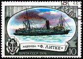 "Russian Icebreaker ""F. Litke"" — Stock Photo"