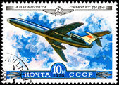 Airplane TU-154 — Stock Photo