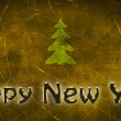Royalty-Free Stock Photo: The Inscription Happy New Year with Christmas Tree