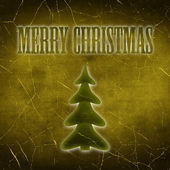 The Inscription Merry Christmas with Christmas Tree — Stock fotografie