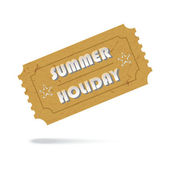Ticket Summer Holiday Icon Isolated — Stockvektor