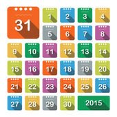 Kalender-Symbole — Stockvektor