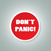 DON'T PANIC Icon — Stock Vector