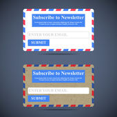 The Newsletter Subscription Form. Web Design. — Stock Vector